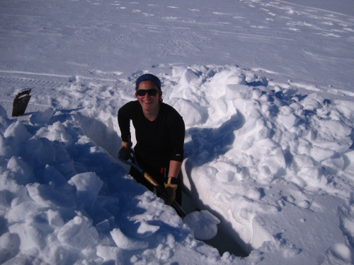 Digging my snow trench was exhausting work, but ultimately worth the effort!