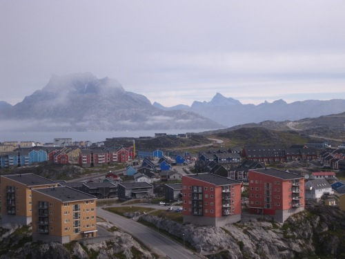 Views around Nuuk are slightly different from the Dartmouth campus.