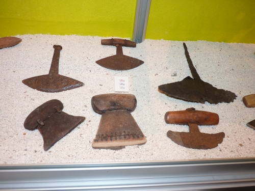 "Ulu, or the ""woman's knife"" is used for cleaning and skinning animals."