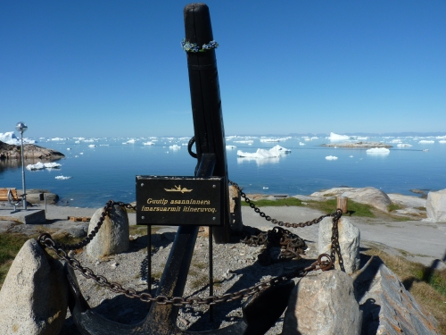 A typical view in Ilulissat.  Not too shabby!