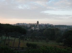 View of the outskirts of Rome from my hotel.