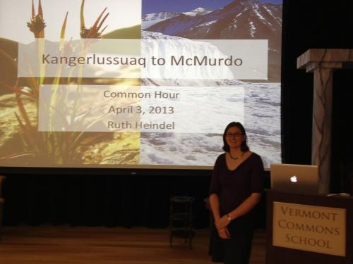 The Vermont Commons community already knows a little about Antarctica. Last year I gave a Common Hour presentation describing my travels to both Greenland and Antarctica.