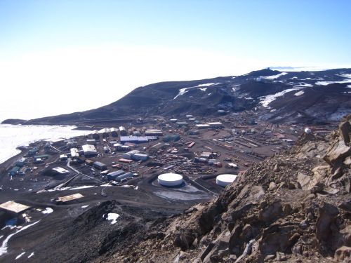 An aerial view of McMurdo. It's quite a town!