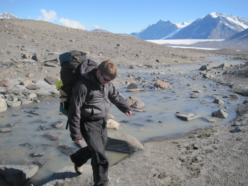 Streams connect glaciers, soils, and lakes, carrying organisms and nutrients. They also make hiking sometimes difficult.