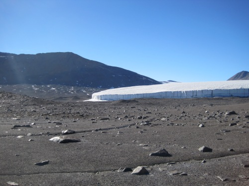 Glaciers aren't the only thing that can melt in the Dry Valleys. Permafrost, permanently frozen soil, can melt too!