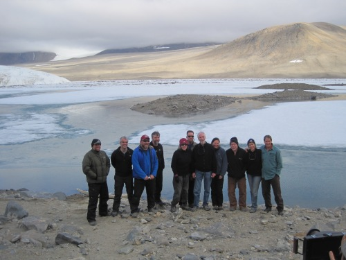 The McMurdo Dry Valley LTER Principal Investigators, all together at Lake Hoare Camp!