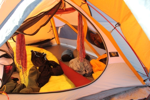 Setting up my cozy tent felt much easier this time around -- I already knew where everything belonged!