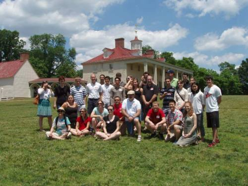 Class photo on the grounds of beautiful Mt. Vernon. [photo courtesy AMS]