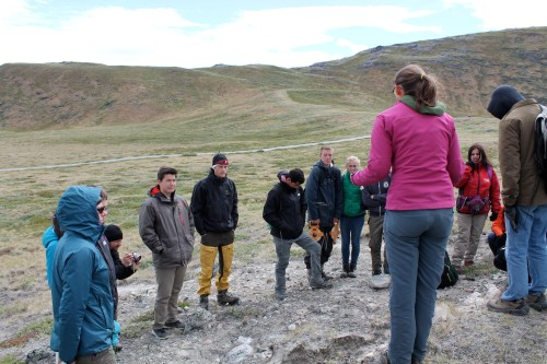 Teaching American, Danish, and Greenlandic high school students out in the field.