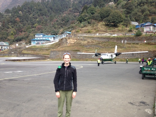 Me at the Lukla airport