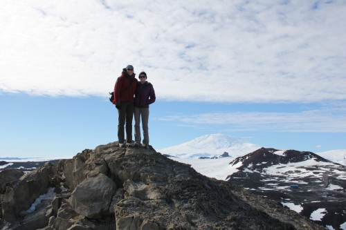 The view of Mt. Erebus from Observation Hill is beyond belief.