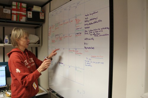 Diana, one of our PIs, adds to the already-insane field calendar.