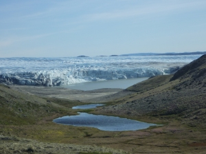 Scouting for field sites near Russell Glacier outside of Kangerlussuaq, Greenland.
